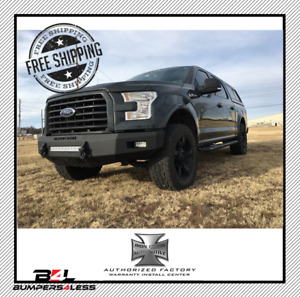 Iron Cross 40 415 15 Gloss Blk Low Profile Front Bumper For 2015 2017 Ford F 150