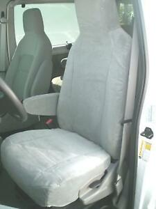 2009 2018 Ford E150 e450 Van Front Buckets Exact Fit Car Seat Covers In Gray