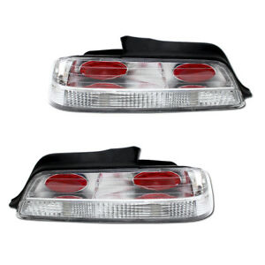 New Replacement Red clear Tail Lights Lamps Assembly For Honda Prelude 97 Set