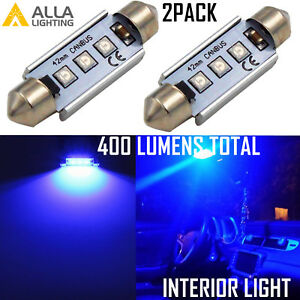 Alla Lighting Cool Blue Led 212 2 Map Dome Courtesy Ambiance Light Festoon Bulb