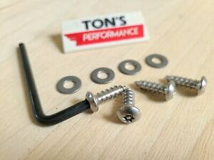 Standard Anti Theft Auto Security License Plate Screws Stainless Car Truck Torx