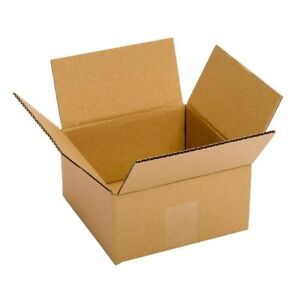 6x6x4 Shipping Boxes Small Cardboard Mailing Delivery Corrugated Recycled 25 Pcs