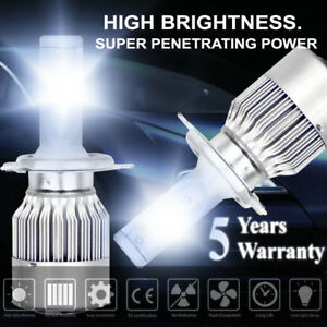 1600w 240000lm H4 9003 Led Conversion Headlight Kit Hi Low Beam 6000k White