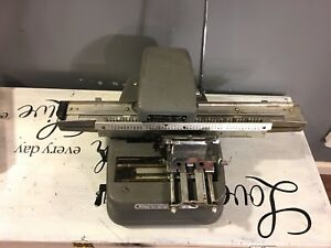 Graphotype Model 350 By Addressograph Tag Machine