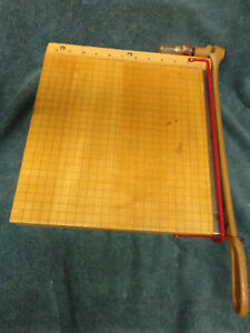 Vintage Ingento Maple Cast Iron Paper Cutter No 1132 12 Style B