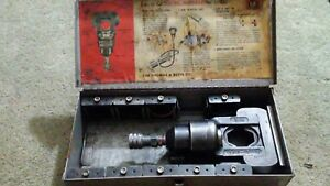 Thomas Betts 12 Ton Swivel Head Hydraulic Crimper 13642 With 10 Die Sets