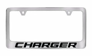 Dodge Charger Plastic Chrome License Plate Frame Holder