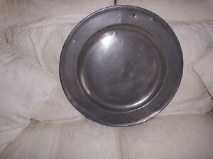Quality Antique Georgian Pewter Charger Plate
