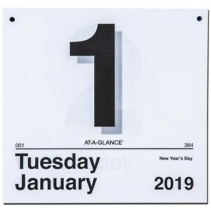 2019 At a glance K4 50 Today Is Tear Off Wall Calendar Refill 8 1 2 X 8