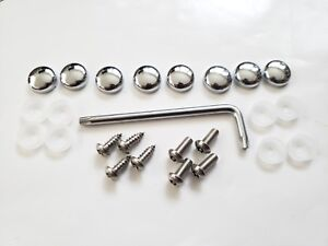 Front Rear Bmw Security Anti Theft License Plate Screws Stainless Bolts Chrome W