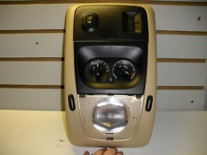 2006 Ford Explorer Overhead Console Homelink Climate Controls Tan 6l24 78519858