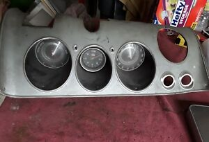 Corvair Monza Dash W Aftermarket Tachometer Silver For Manual Trans With A C