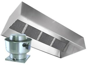 Captiveaire 10ft Commercial Vent Hood Restaurant Exhaust With Fire Suppression