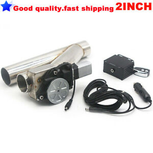 Remote Universal 2 Exhaust Catback Turbo Electric E Cutout Y Pipe Valve Kit