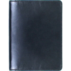 Scully Italian Leather Desk Size Weekly Planner Black Business Accessorie New