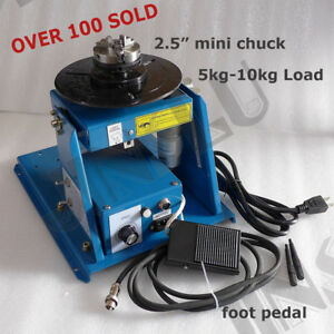 Rotary Welding Positioner Turntable Table With Mini 2 5 3 Jaw Lathe Chuck