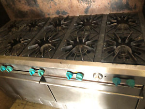 10 Burner Double Ovens Gas Range Stove Stoves Baking Restaurant Grill