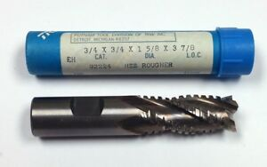 3 4 4 flute Hss Roughing End Mill 1 5 8 Loc 3 7 8 Oal Putnam 92224