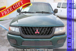 Gtg 2000 2004 Mitsubishi Montero Sport 3pc Polished Bumper Billet Grille Kit