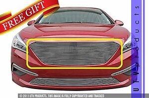 Gtg Polished 1pc Replacement Billet Grille Grill Fits 2015 2017 Hyundai Sonata