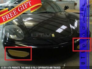 Gtg 1999 2004 Ferrari 360 Modena 3pc Front And Rear Billet Grille Grill Kit