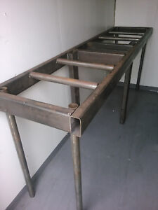 Welded Metal Work Shop Bench Table 3 h X 22 w X 8 l
