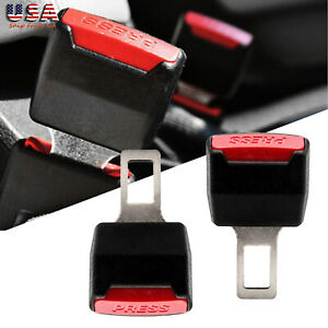 2x Car Safety Seat Belt Buckle Alarm Eliminator Extension Clip Code Error Fix