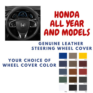 Honda Wheelskins Leather Steering Wheel Cover All Models Custom Fit Many Colors