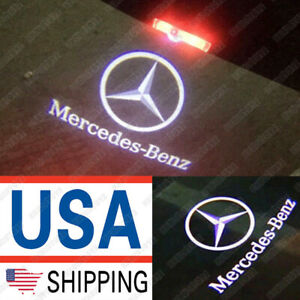 2x Led Door Logo Projector Lamp Step Ghost Light For Mercedes Benz Gl Ml R Class