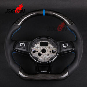 For Vw Golf 7 Gti Golf R Mk7 2014 2018 Replace Carbon Fiber Steering Wheel Cover