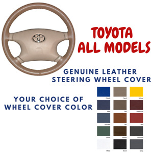 Toyota Wheelskins Leather Steering Wheel Cover All Models Custom Fit Many Colors