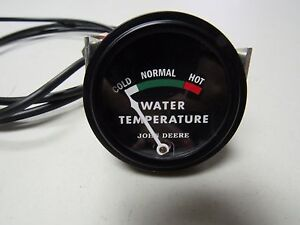 John Deere 40 420 430 Tractor Black Faced Dubuque Temp Gauge W 48 Lead 5727