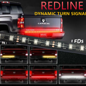 60 Led Truck Tailgate Light Bar Amber Sequential Turn Signal Backup Light