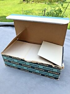 Original Vintage Set 900 Rolodex Card File Refill Cards C24 In Box