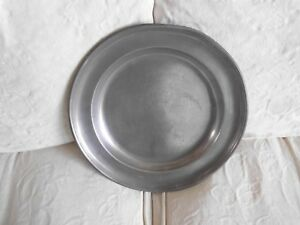 Antique Pewter Plate Charger