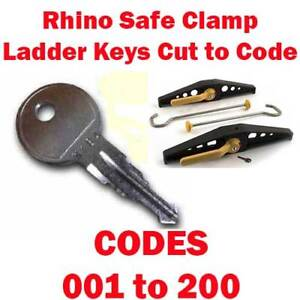 Rhino Safe Clamp Ladder Keys Cut To Code 001 200 Cut By Locksmiths Free Delivery