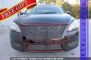 Gtg Polished 2pc Custom Billet Grille Grill Kit Fits 2013 2015 Nissan Sentra