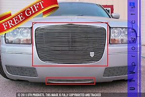 Gtg 2005 2010 Chrysler 300 And 300c 2pc Polished Replacement Billet Grille Kit