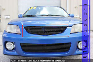 Gtg 2001 2003 Mazda Protege Mp3 Mazdaspeed 1pc Gloss Black Upper Billet Grille