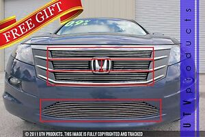Gtg 2010 2012 Honda Accord Crosstour 5pc Polished Overlay Billet Grille Kit