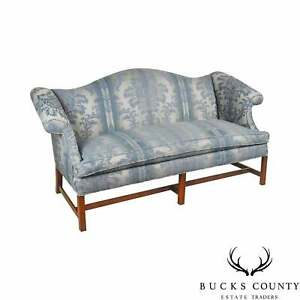Chippendale Style Mahogany Custom Quality Sofa