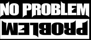 No Problem Funny Offroad Decal Chevy Jeep Cj Yj 4x4 Cherokee Wrangler Ford