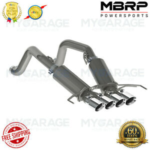 Mbrp Chevy Stingray 3 Dual Muffler Axle Back Quad 4 dual Wall Tips S7030304