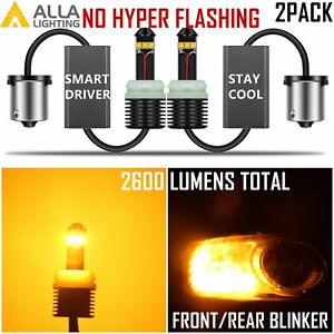 Alla Lighting Led 1157 High Power 20w Canbus Yellow Turn Signal Tail Light Bulb