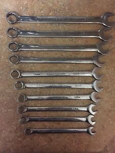 Craftsman Professional Metric Combination Wrench Set10 19mm 10 Pc 12pt Nos