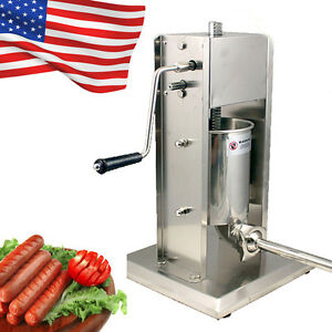 5l Vertical Sausage Stuffer 11lb Meat Filler 304 Stainless Steel Mountable Easy