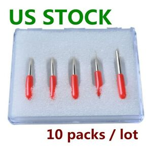 10 Packs 45 Degree Small Roland Vinyl Cutter Compatible Blades N Grade Us Stock