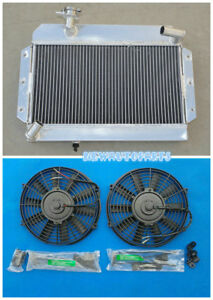 Aluminum Radiator Fans For Rover Mg Mga 1500 1600 1622 De Luxe 1955 1962 61 60