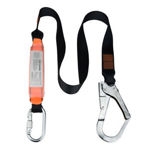 Scaffolding Hook 6 foot Internal Shock Lanyard Fall Protection Equipment Harness