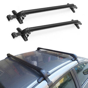 2x Universal Car Top Luggage Roof Rack Cross Bar Carrier Adjustable Window Frame